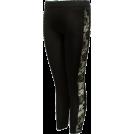 FineBrandShop Ghette -  Ladies Black Leggings Sheer Floral Designed Sides
