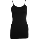 FineBrandShop Tuniche -  Ladies Black Seamless Tunic Cami 25 Inch