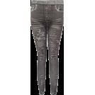 FineBrandShop Leggings -  Ladies Charcoal Seamless Jeans Printed Leggings