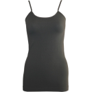 FineBrandShop Tuniche -  Ladies Charcoal Seamless Tunic Cami 25 Inch