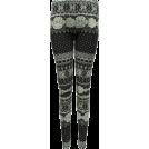 FineBrandShop Leggings -  Ladies Grey Winter Pattern Leggings