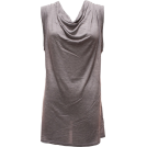 FineBrandShop Tunic -  Ladies Heather Grey Sleeveless Tunic Top
