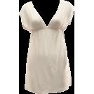 FineBrandShop Dresses -  Ladies Ivory Color Deep V-Neck Tunic Dress, Elastic Waist Band