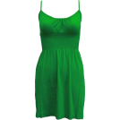 FineBrandShop Tunic -  Ladies Seamless Kelly Green Smocking Waist Tunic Top