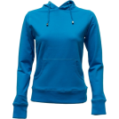 FineBrandShop Long sleeves t-shirts -  Ladies Turquoise Classic Center Pocket Hoody