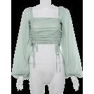 FECLOTHING Camicie (corte) -  Lantern Sleeve Square Collar Drawstring