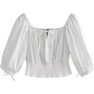 FECLOTHING Shirts -  Lantern sleeves collar collar retro shir