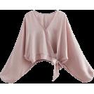 FECLOTHING Shirts -  Lantern sleeves gentle pink shirt