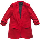 FECLOTHING Jacket - coats -  Lapel pleated cropped sleeves in long so