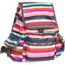 LeSportsac Backpacks -  LeSportsac Voyager Nylon Backpack Campus Stripe