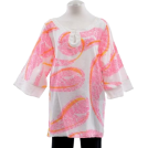 Lilly Pulitzer Tunic -  Lilly Pulitzer Cotton Silk Blend Pink Lady Printed Tunic Shirt Top