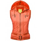 Lock and Love Outerwear -  Lock and Love LL Womens Belted Zip Up Hoodie Vest with Inner Fleece
