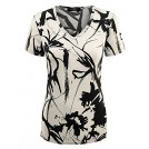 Lock and Love Shirts -  Lock and Love LL Womens Print Deep V Neck Short Sleeve Print T Shirt - Made in USA