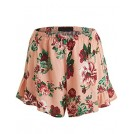 Lock and Love Shorts -  Lock and Love Womens Print Woven Summer Shorts with Elastic Band