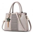 H.Tavel Bag -  Luxury Designer Women Handbags Geometry Lattice Embroidery Leather Shoulder Bag With Star