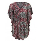 Made By Johnny Shirts -  MBJ Womens Solid/Print Caftan Lounge Tunic Top - Made in USA