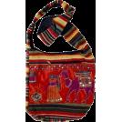 αA(アルファエー) Bag -  MG Decor Madhu's Collection Gypsy Recycled Patchwork Sling Cross Body Camel Bag/Purse