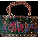 αA(アルファエー) Hand bag -  MG Decor Madhu's Collection Hand Bag/Purse Fabric Elephant with Natural Wood Bead Handles