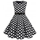 MUADRESS Vestiti -  MUADRESS Girls Sleeveless O-Neck Audrey 1950s Vintage Swing Princess Party Dress