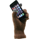 Alki'i Manopole -  Magic texting glove with conductive yarn finger tips for iPhone, iPad and all touch screen devices - 4 colors Brown