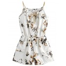 MakeMeChic Pantaloni -  MakeMeChic Women's Sexy Strap Floral Print Summer Beach Party Romper Jumpsuit