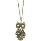 Mango Pendants -  Mango Women's Chain With Oversize Owl Pendant Gold