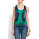 Mango Vests -  Mango Women's Denim Waistcoat Dark Denim
