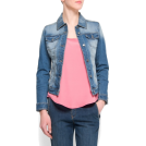 Mango Jacket - coats -  Mango Women's Distressed Effect Denim Jacket Medium Denim