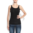 Mango Top -  Mango Women's Slim Strap Top Black