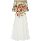 vespagirl Vestiti -  Marchesa Off-The Shoulder Embroidered Si