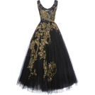 sandra  Vestidos -  Marchesa's Black Tulle Tea-Length Gown