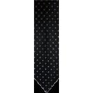 Tommy Hilfiger Tie -  Men's Tommy Hilfiger Necktie Neck Tie Silk Black, Silver and Blue
