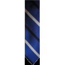 Tommy Hilfiger Tie -  Men's Tommy Hilfiger Necktie Neck Tie Silk Blue, Black & Silver