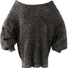 FECLOTHING Pullovers -  Metallic Long Sleeve Mohair Sweater
