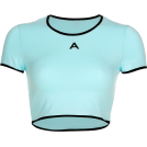 FECLOTHING Shirts -  Mint green contrast A letter tight T-shi