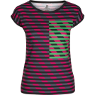 PINaR ERIS T-shirts -  Multi Color Striped Fitted Tee