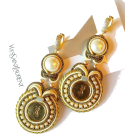 Sabaheta Earrings -  New Earrings from authentic buttons wedd