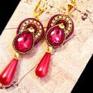 Sabaheta Earrings -  New Soutache earrings. Long chandelier e