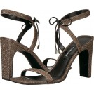 NINE WEST Sandals -  Nine West Women's Longitano Fabric Heeled Sandal, Black Natural Fabric, 9.5 Medium US