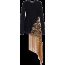 HalfMoonRun Pullovers -  OSCAR DE LA RENTA crepe top