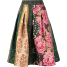 beautifulplace Skirts -  OSCAR DE LA RENTA floral print puffy ski