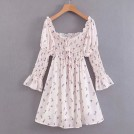 FECLOTHING ワンピース・ドレス -  One-piece collar floral dress