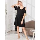 Shein Accessories -  Open Shoulder Solid Dress