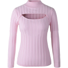 Jay Han Long sleeves shirts -  Open Chest Turtleneck Sweater