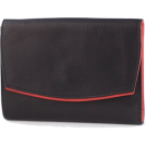 Osgoode Marley Wallets -  Osgoode Marley Ladies Leather Bifold with Flap Cover Wallet Black / Red Interior