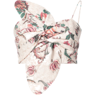 pwhiteaurora Vests -  PATBO floral print bow bustier