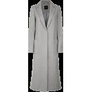 lence59 Jakne i kaputi -  Pale Grey Bar Back Revere Collar Maxi Co