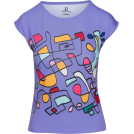 asia12 T-shirts -  Pastel Mauve Abstract Print Hand Drawn S