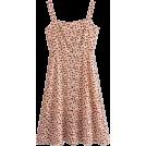 FECLOTHING Dresses -  Pastoral Print Long Buttoned Strap Dress