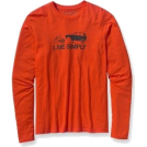 Patagonia Long sleeves t-shirts -  Patagonia Long Sleeve Live Simply Spare T-Shirt - Men's Glowing Ember